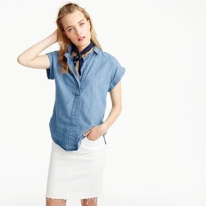 J.Crew Short Sleeve Chambray Popover Shirt